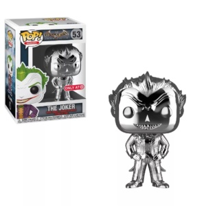 Funko POP! Heroes: DC Comics Batman Arkham Asylum – The Joker (Silver Chrome) (NYCC Debut)