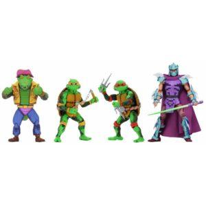 NECA Teenage Mutant Ninja Turtles TMNT: Turtles in Time Series 2 Set of 4