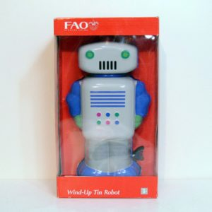 FAO SCHWARZ WIND-UP TIN ROBOT