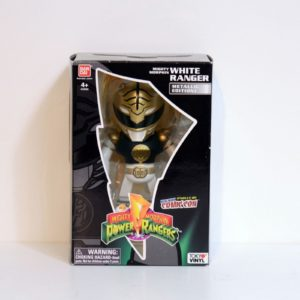BANDAI NYCC 2015 EXCLUSIVE MIGHTY MORPHIN POWER RANGERS WHITE RANGER METALLIC EDITION
