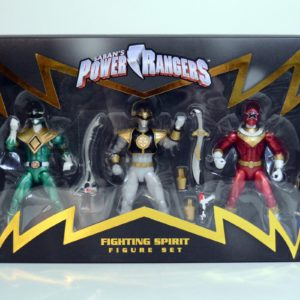 BANDAI NYCC 2017 EXCLUSIVE LIMITED EDITON MIGHTY MORPHIN POWER RANGER FIGHTING SPIRIT LEGACY FIGURE SET