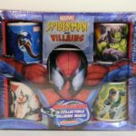 MARVEL SPIDER-MAN AND VILLAINS 4 COLLECTIBLE VILLAINS MUGS W/ COOKIES IN COLLECTIBLE TIN