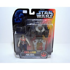 STAR WARS DELUXE HAN SOLO W/ SMUGGLER FLIGHT PACK