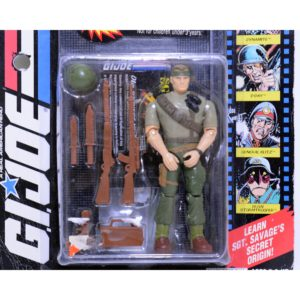 G.I.JOE SGT. SAVAGE AND HIS SCREAMING EAGLES COMMANDO SGT. SAVAGE ACTION FIGURE W/ ANIMATED VIDEO