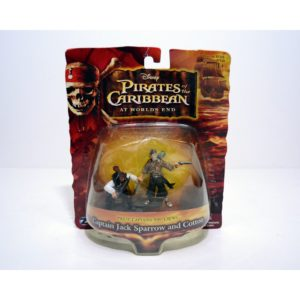 DISNEY PIRATES OF THE CARIBBEAN AT WORLD'S END CAPTAIN JACK SPARROW AND COTTON MINI FIGURES