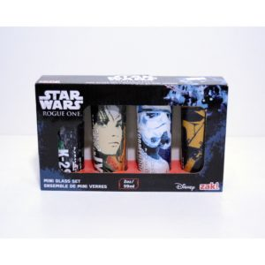 DISNEY STAR WARS ROGUE ONE MINI GLASS SET 2OZ