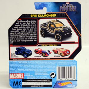 HOTWHEELS CHARACTER CARS MARVEL BLACK PANTHER ERIK KILLMONGER